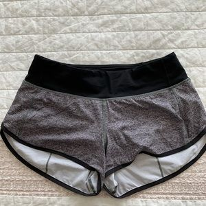 Lululemon Size 4 speed shorts EUC